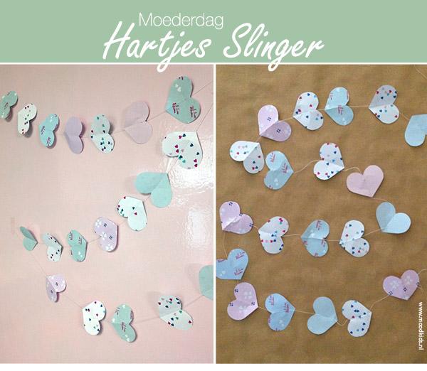 moederdag slinger, hartjes, patroon, garland, papier, download, printable