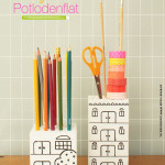 Zelf maken: potloden opbergen in een potlodenflat