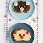 Berenbroodjes met hazelnootpasta of pindakaas