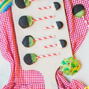 Fruitlolly's met chocolade