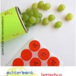 Letterbus bingo in de auto