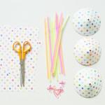 Een confetti parasol op je glas