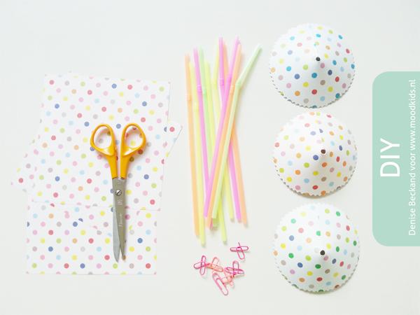 confetti parasol feestje maken