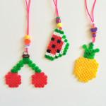 DIY strijkkralen fruit-ketting