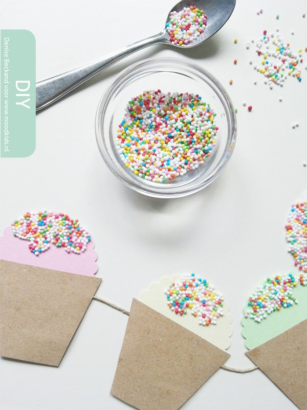 ijsslinger maken van papier discodip