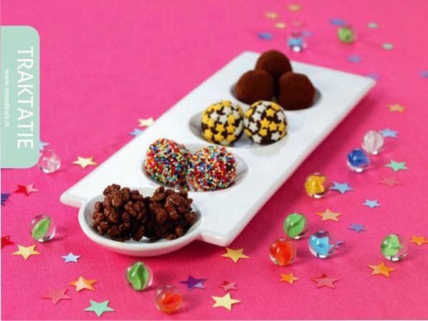 traktatie chocolade meteorieten