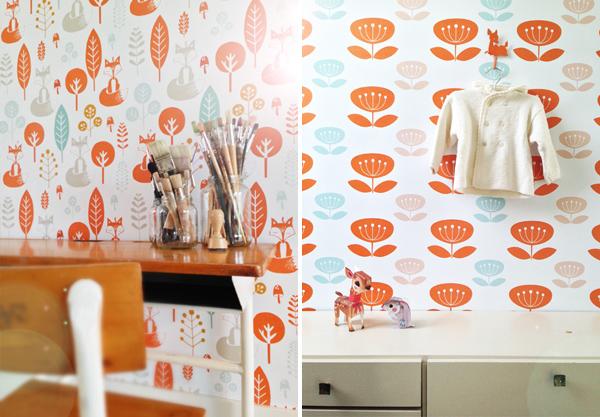 behang babykamer roodborstje ellen