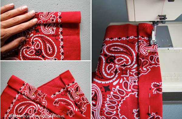 boerenzakdoek kimono stap voor stap