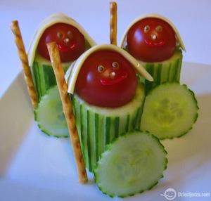 gezonde traktatie komkommer