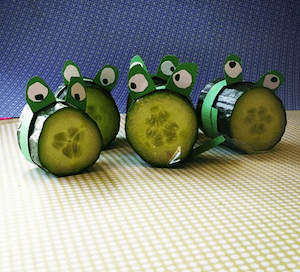traktatie komkommer kikkers