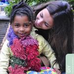 Crochet patchwork lussensjaal