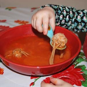 bloed en spinnen soep 1
