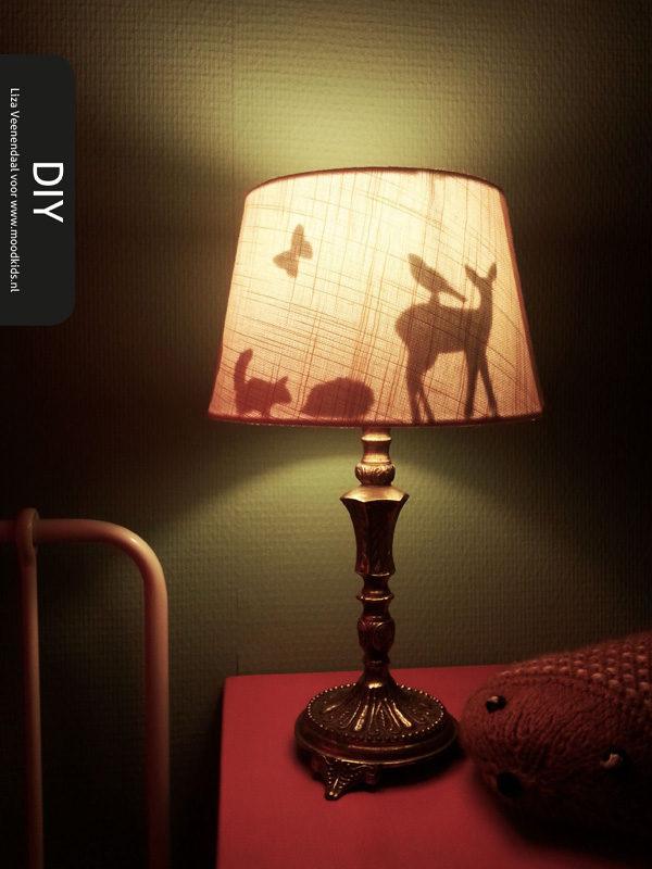 zelf een silhouette lamp maken. Black Bedroom Furniture Sets. Home Design Ideas