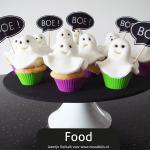 Spookjes Cupcakes + gratis Halloween prikkers