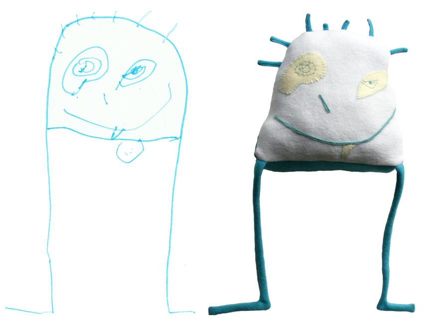 tekening wordt knuffel