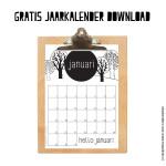 Gratis maandkalender januari