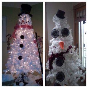 kerstbom sneeuwpop