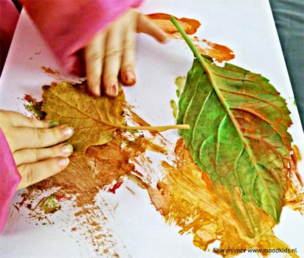 verven met blad