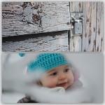 Spelen in de sneeuw
