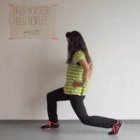 Lunges voor workout dag 7 #hello15