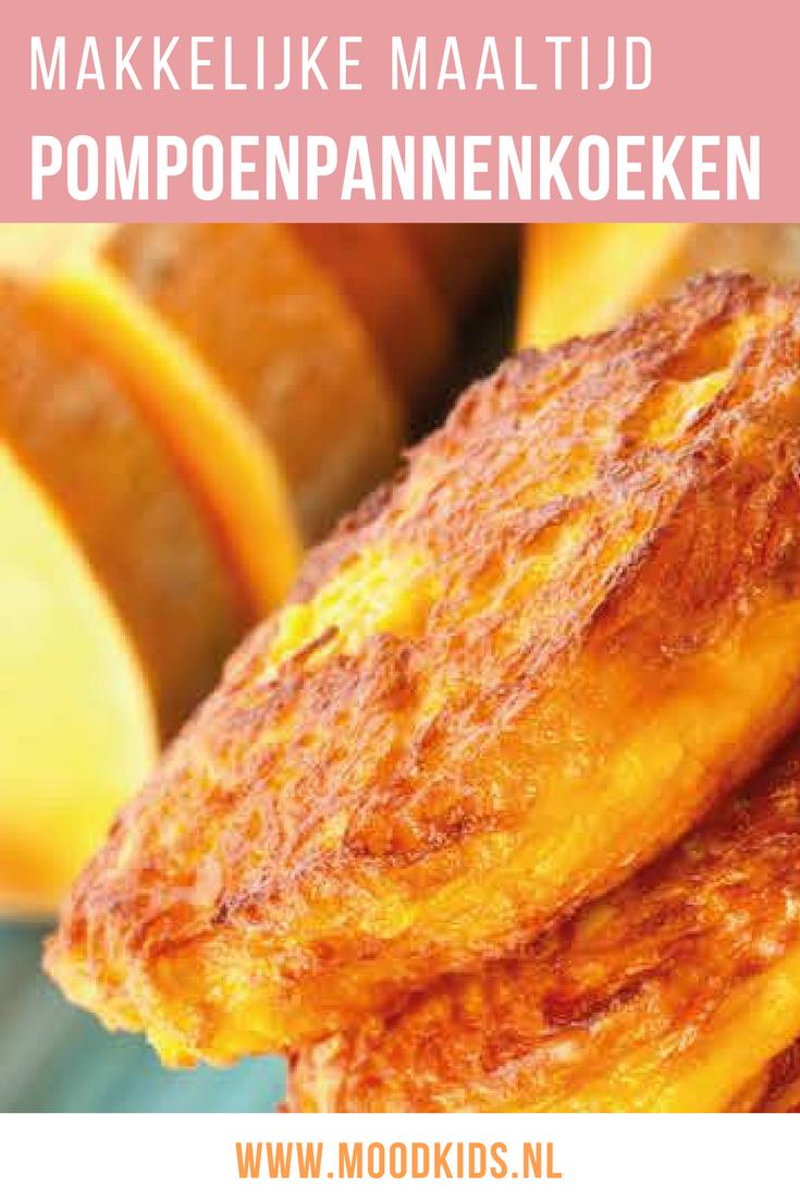 Makkelijk recept pompoen pannenkoeken. Lekker als ontbijt of lunch