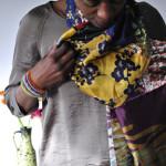 Recycle DIY : Patchwork zijden sjaal