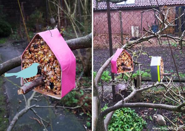 vogelhuisjes maken vogelvoer DIY