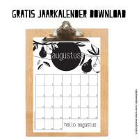 Leuke maandkalender augustus