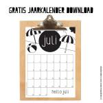 Gratis juli maandkalender