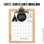 Juni: maandkalender A4