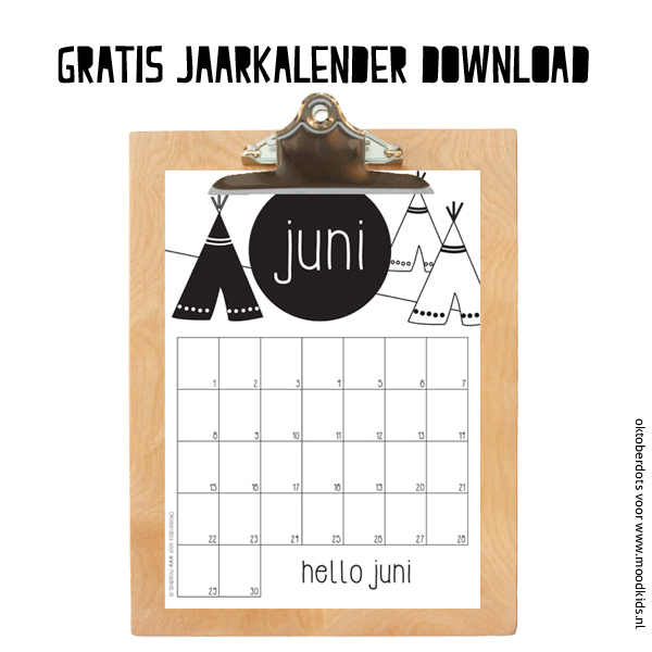 JUNI gratis jaarkalender download