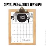 Mei maandkalender om af te drukken