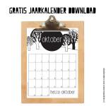 Oktober maandkalender
