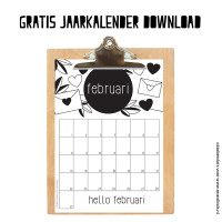Februari maandkalender download