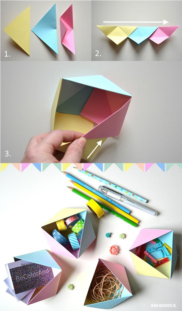 geometrische doosjes vouwen