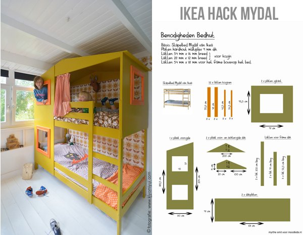 Ikea hack mydal bed - werkbeschrijving - how to make it