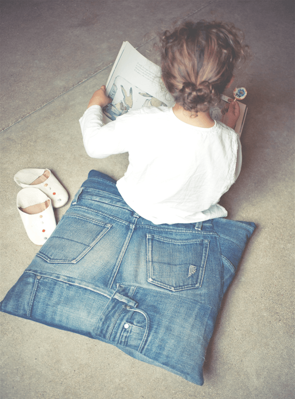 Populair Zelf een kussen maken van oude jeans | MoodKids UF22