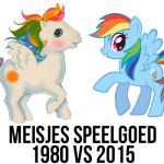 Spelende meisjes in 1980 en 2015