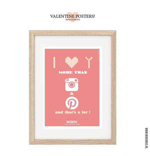 valentijn poster roze