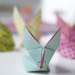 Zo vouw je een origami haasje