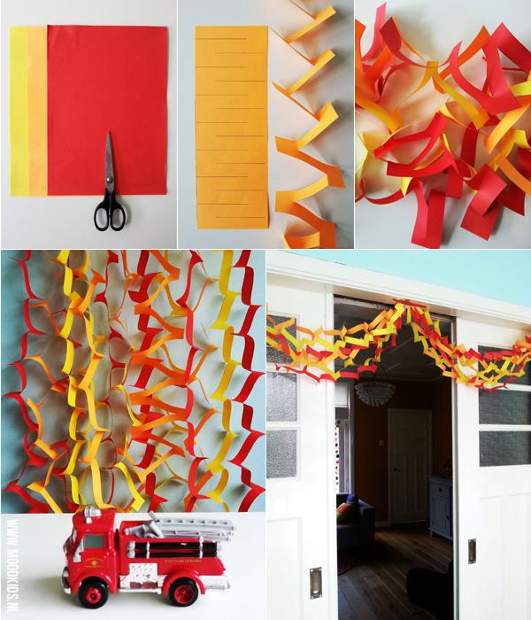Zelf versiering maken voor een brandweerfeestje / kinderfeestje brandweer