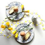 Deze diy eierslinger voor de paastafel is een eitje om te maken