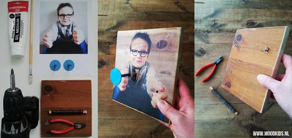 Super Een eigenwijze foto op hout maken voor de kinderkamer #ZK41