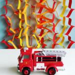 Vurige feestversiering maken voor een brandweerfeestje