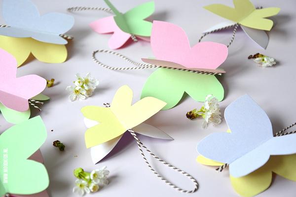 Genoeg Vandaag gaan we lente vlinders knutselen YP14