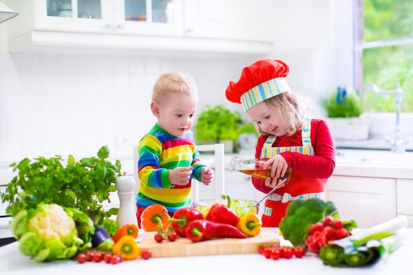 kind groente eten
