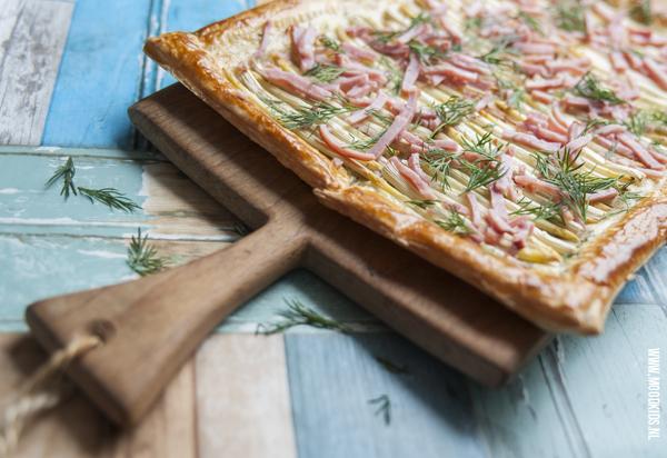 asperge plaatpizza met ham kinderen