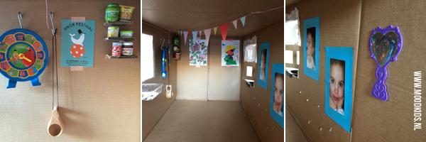 speelhuis van karton maken