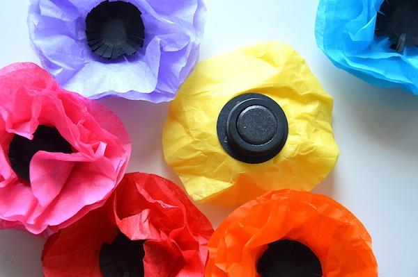 bloemen magneetjes maken