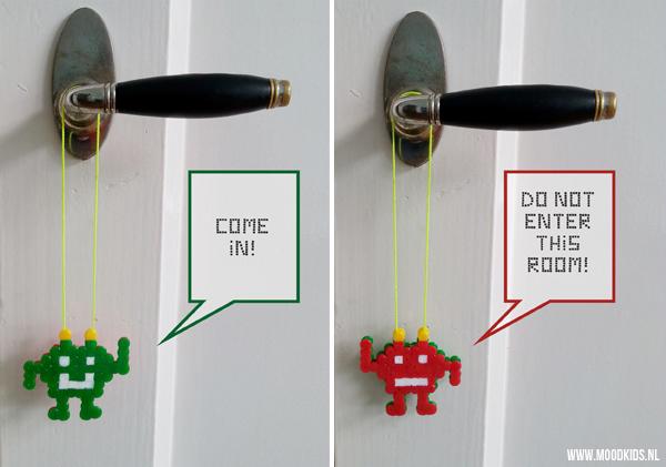 deurhanger zelf maken van strijkkralen